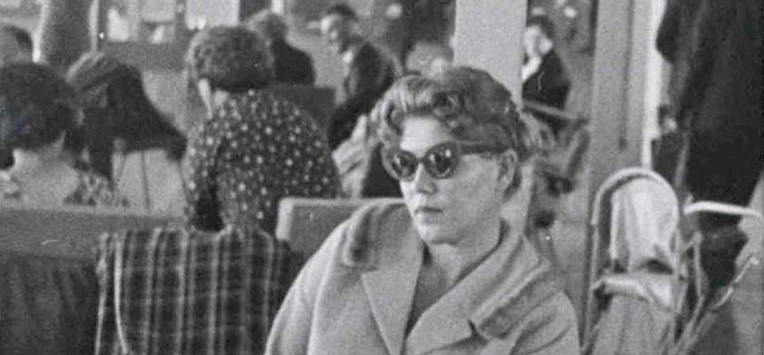 Image: Lydia Janovska at Mascot Airport, Sydney, 1960. NAA: A6122, 1755. Australian Security Intelligence Organisation, Central Office